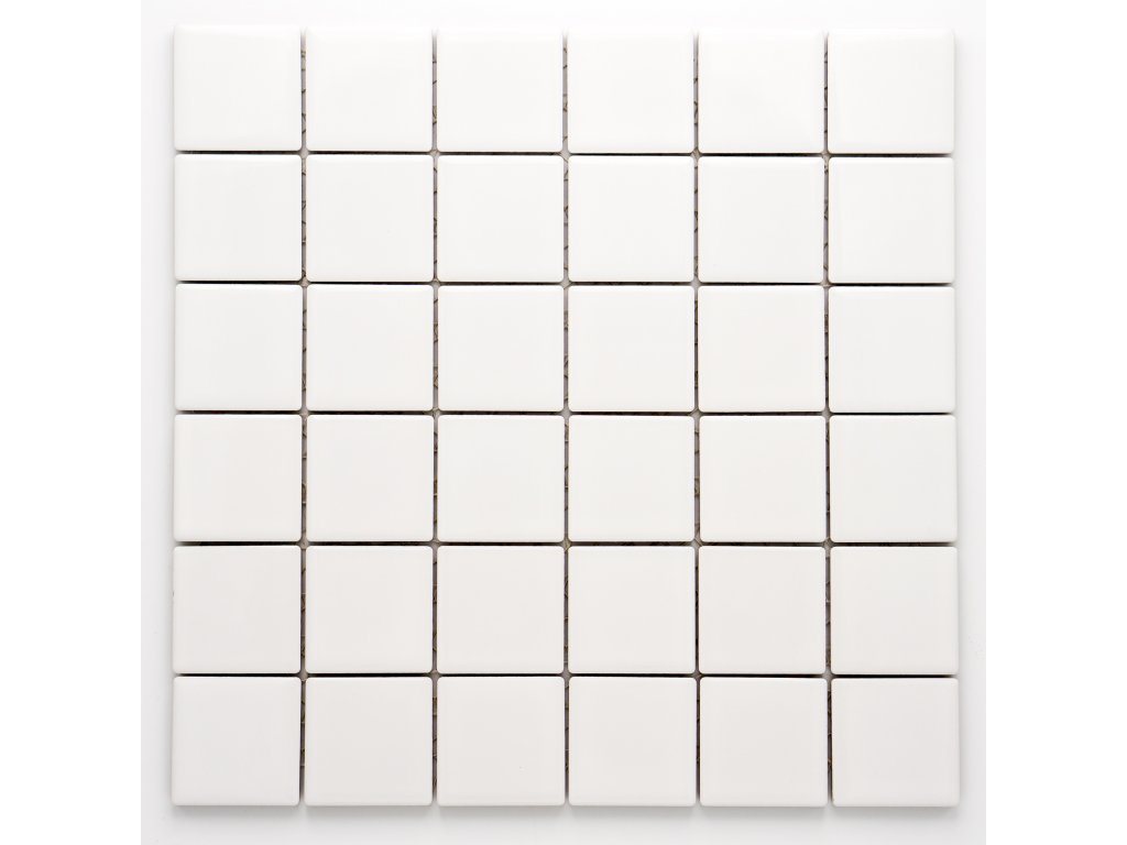 MC48 004 keramická mozaika bílá 48x48mm