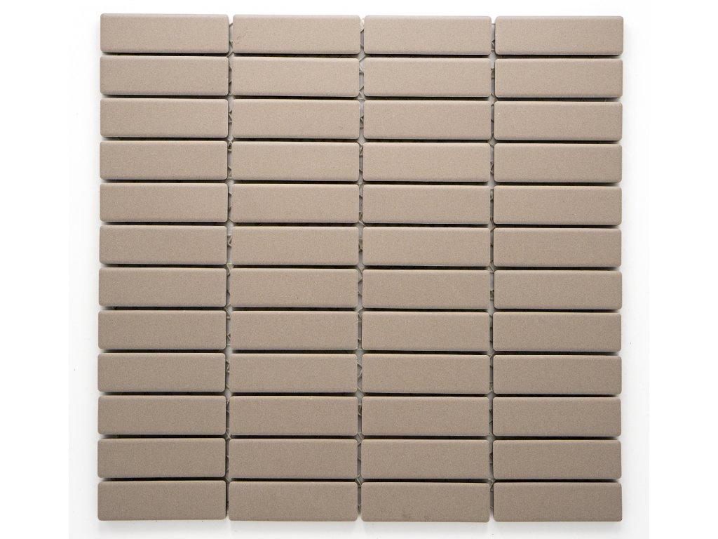 MCB 008 keramická mozaika hnědá 73x22mm