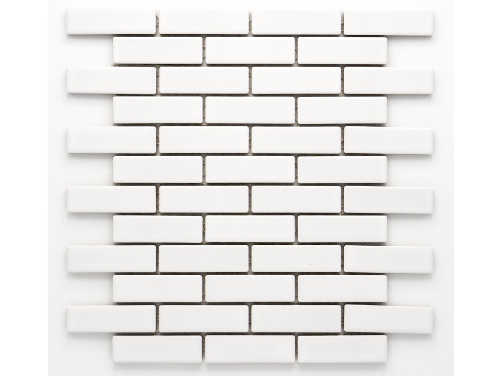 MCB 013 keramická mozaika bílá 73x22mm