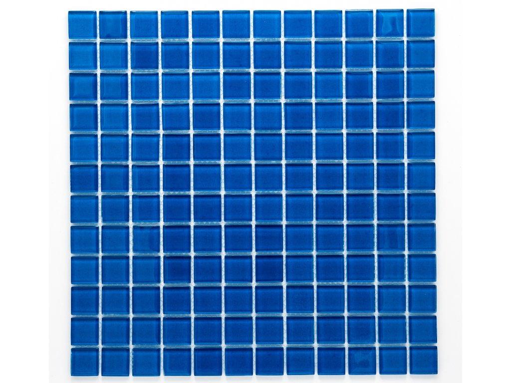 MGC 001 skleněná mozaika modrá 23x23mm