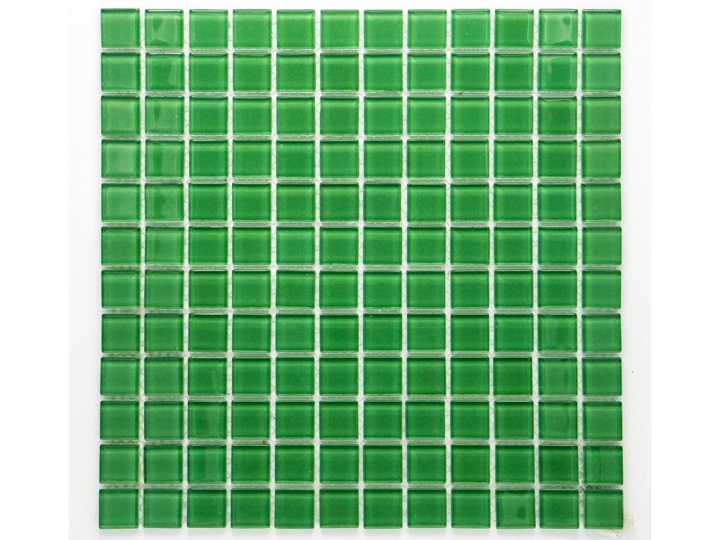 MGC 004 skleněná mozaika zelená 23x23mm