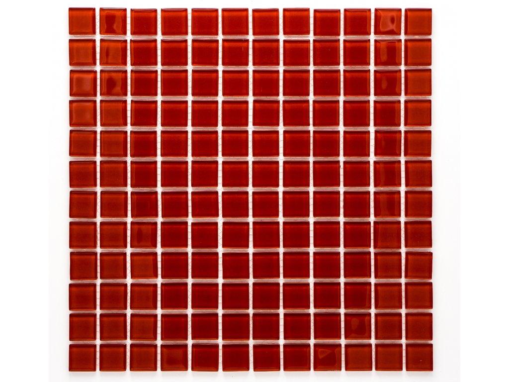 MGC 006 skleněná mozaika červená 23x23mm