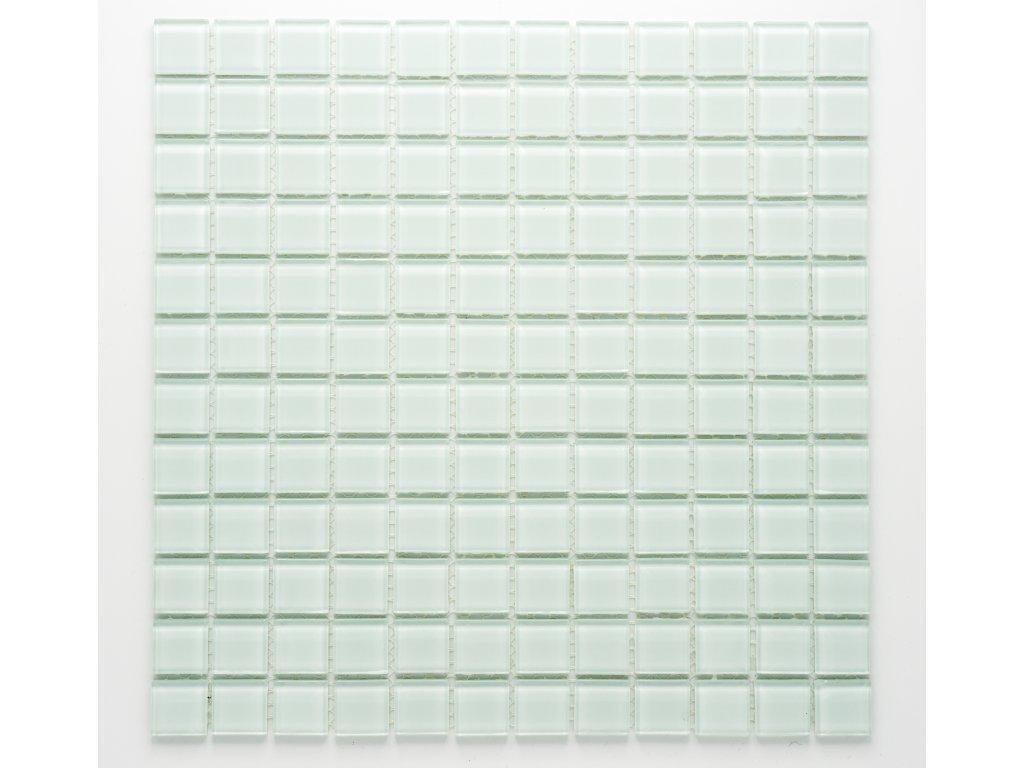 MGC 007 skleněná mozaika bílá 23x23mm