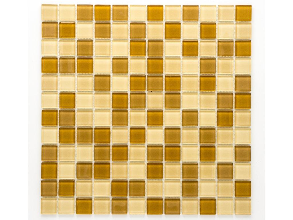 MGC 008 skleněná mozaika béžová 23x23mm