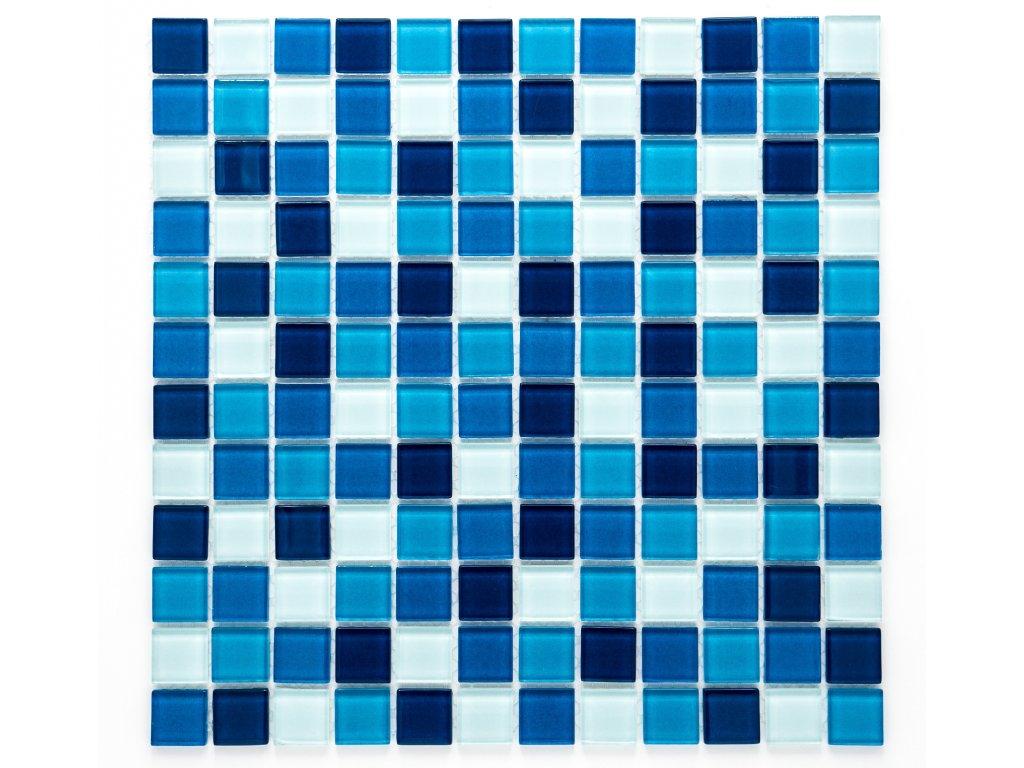 MGC 009 skleněná mozaika modrá 23x23mm