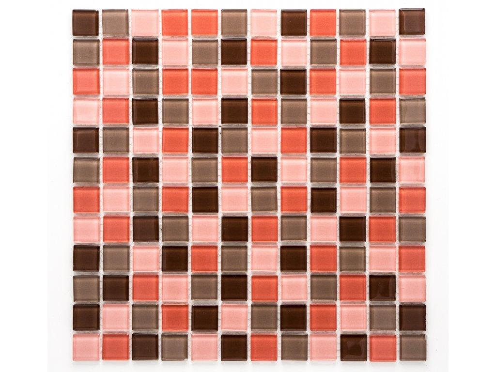 MGC 010 skleněná mozaika růžová 23x23mm