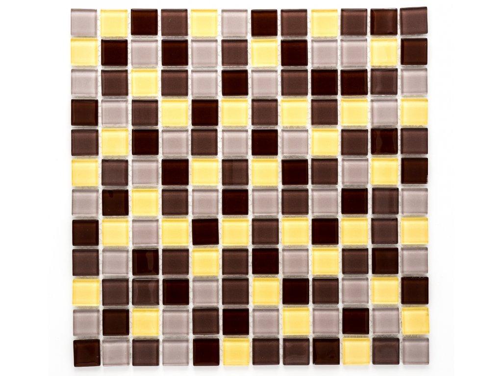 MGC 011 skleněná mozaika hnědá 23x23mm