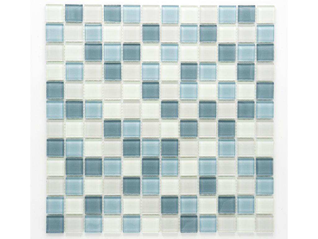 MGC 012 skleněná mozaika šedá 23x23mm