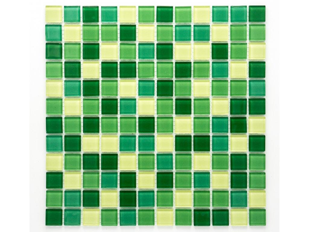 MGC 013 skleněná mozaika zelená 23x23mm
