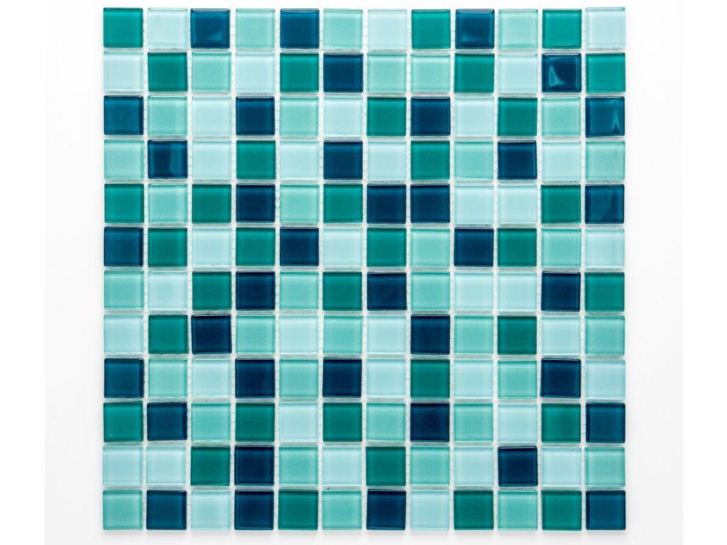 MGC 014 skleněná mozaika zelená 23x23mm