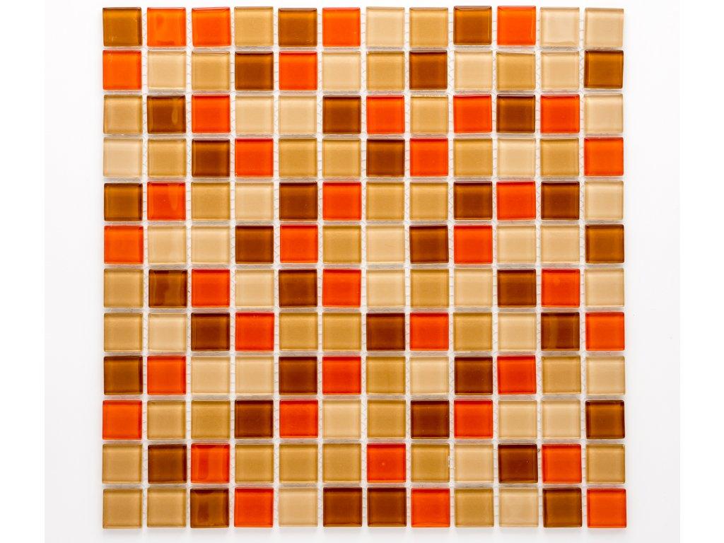 MGC 015 skleněná mozaika oranžová 23x23mm
