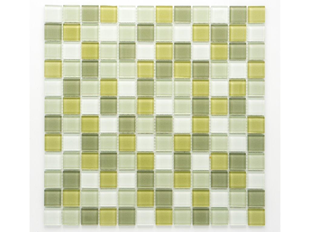 MGC 016 skleněná mozaika zelená 23x23mm