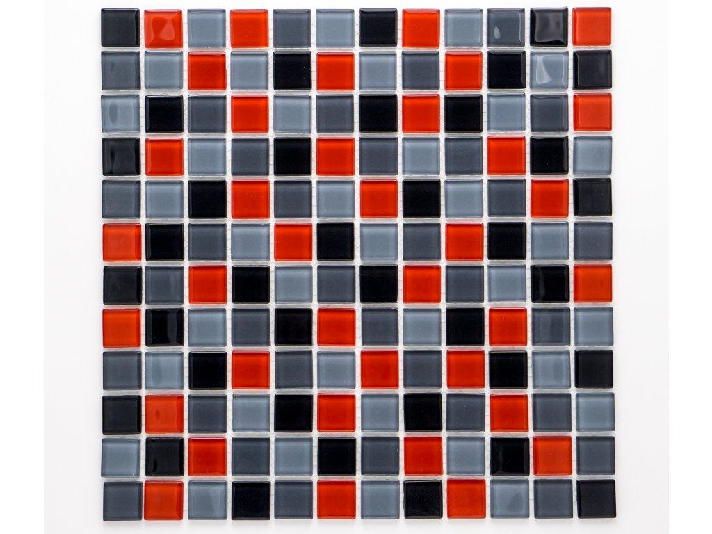 MGC 017 skleněná mozaika červená 23x23mm
