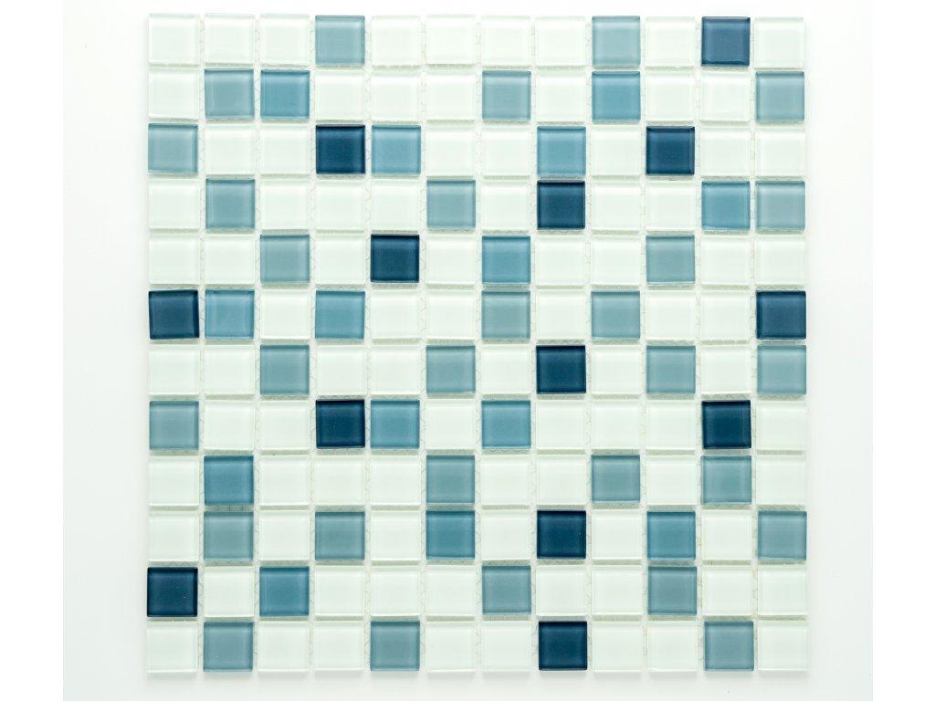MGC 018 skleněná mozaika šedá 23x23mm