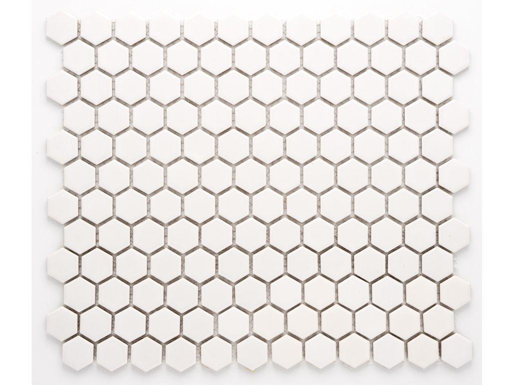 MCH 001 keramická mozaika bílá 23x26mm