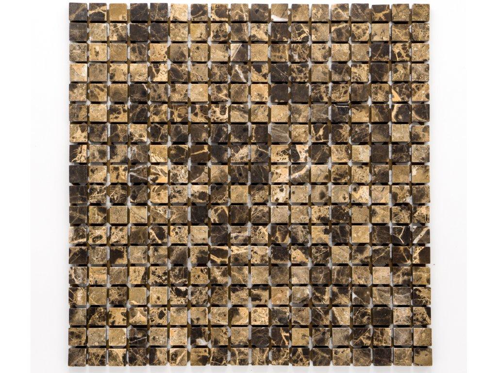 MS 001 kamenná mozaika hnědá 15x15mm
