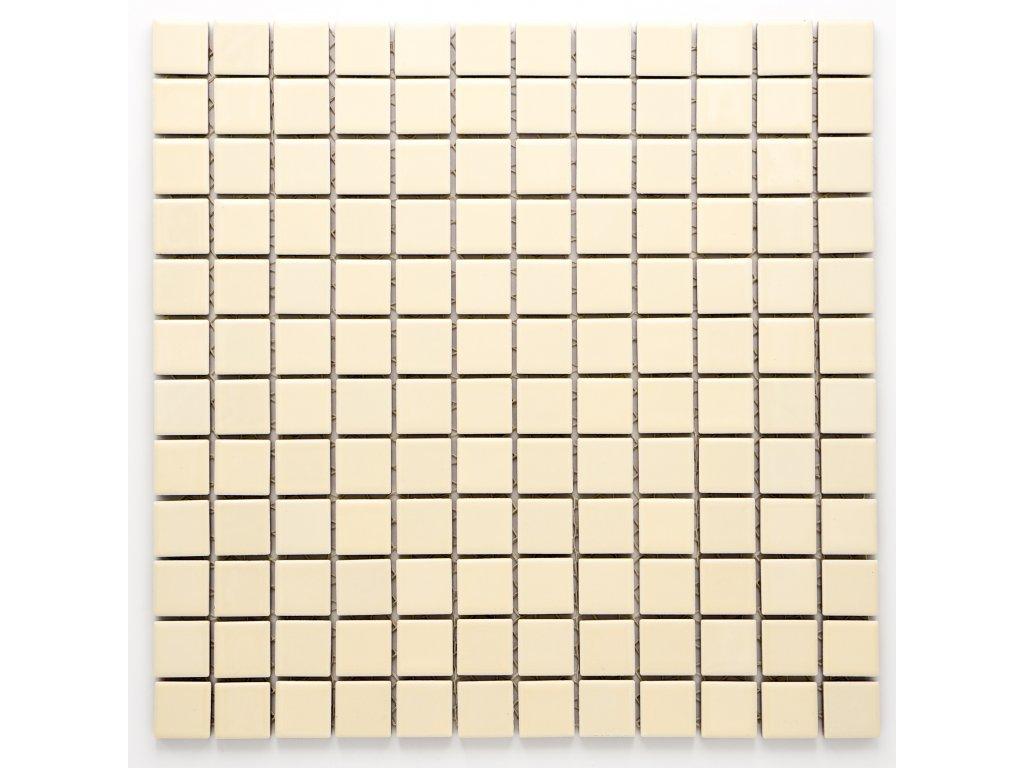 MC23 002 keramická mozaika krémová 23X23mm