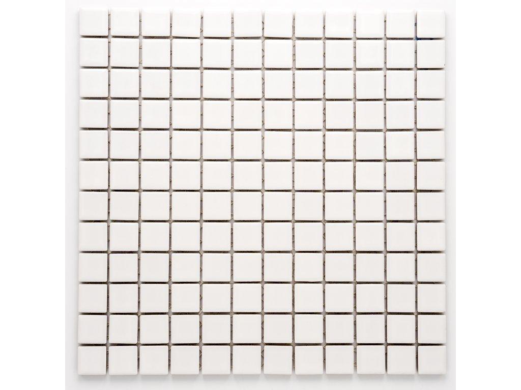 MC23 005 keramická mozaika bílá 23X23mm