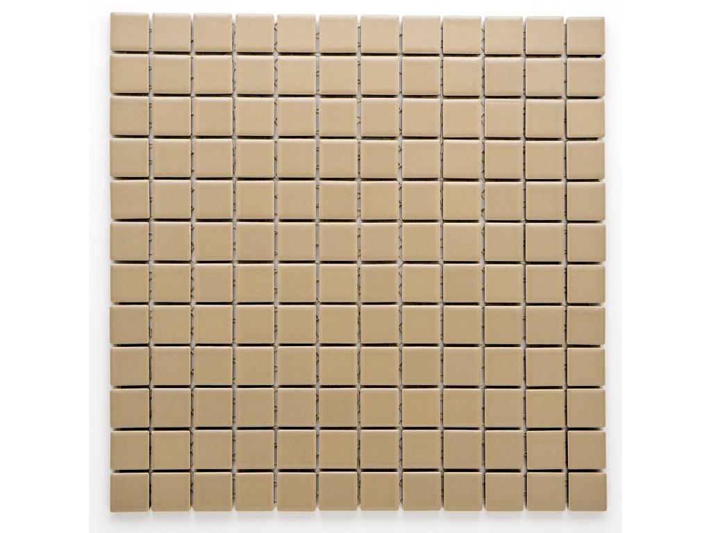 MC23 008 keramická mozaika šedohnědá 23X23mm