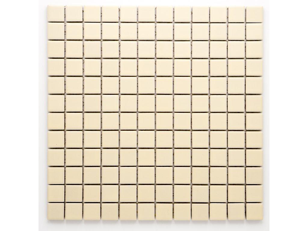 MC23 009 keramická mozaika krémová 23X23mm