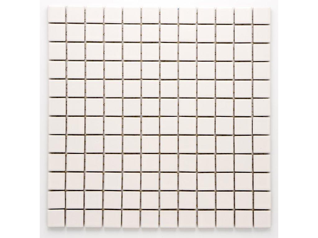 MC23 010 keramická mozaika bílá 23X23mm