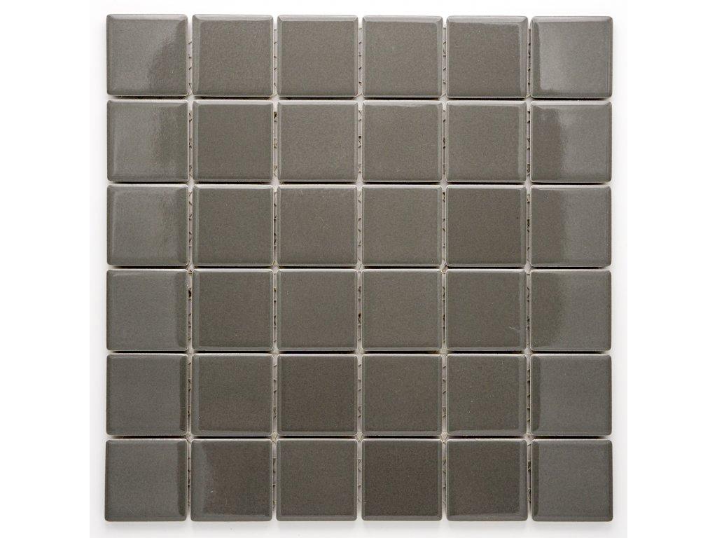 MC48 007 keramická mozaika šedá 48x48mm