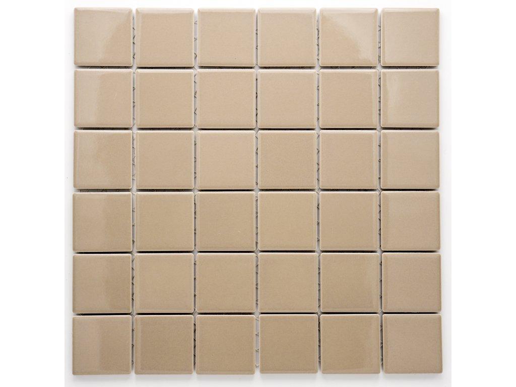 MC48 008 keramická mozaika hnědá 48x48mm