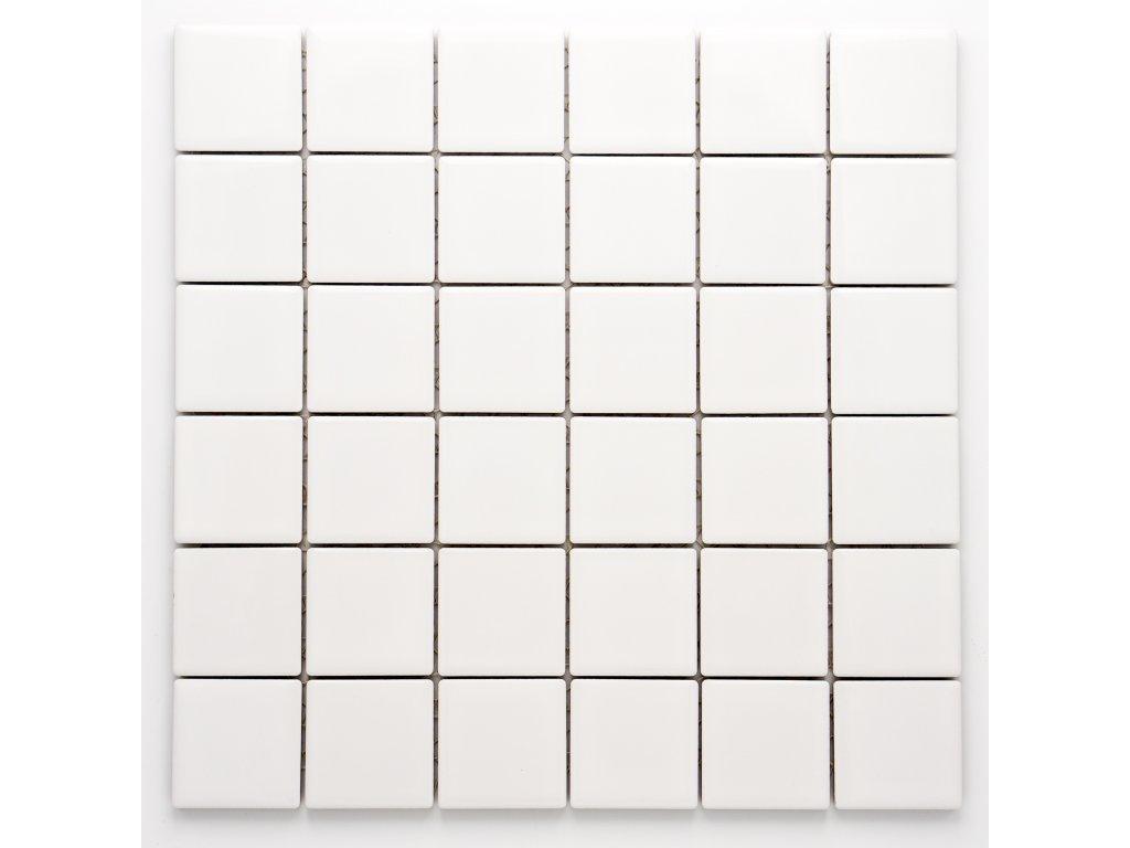 MC48 009 keramická mozaika bílá 48x48mm