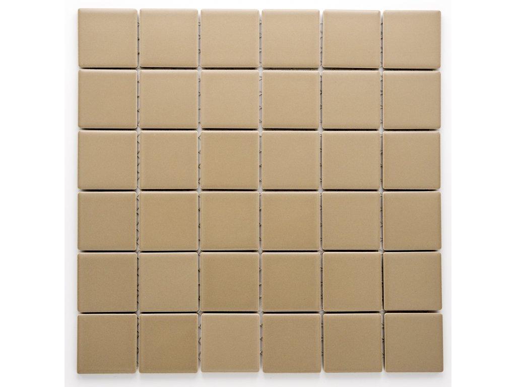 MC48 013 keramická mozaika hnědá 48x48mm