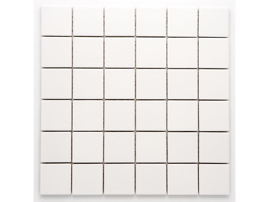 MC48 014 keramická mozaika bílá 48x48mm