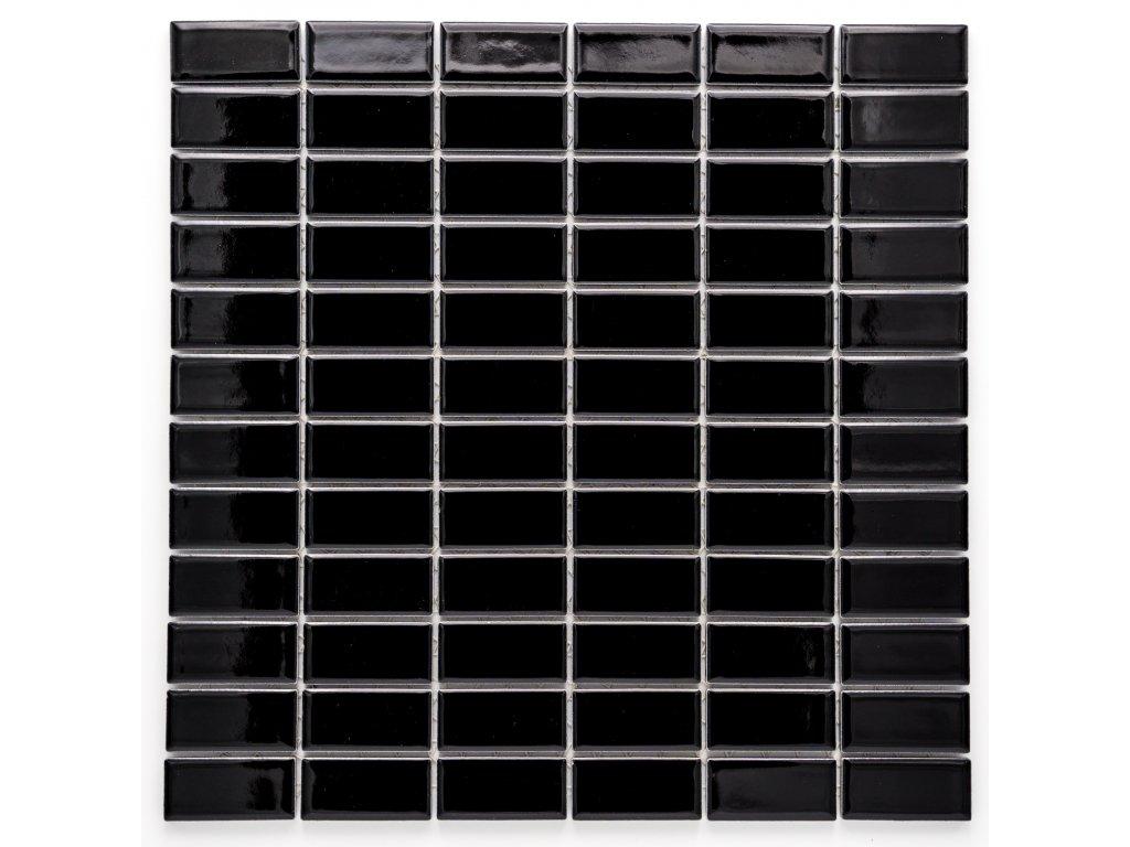MCB 015 keramická mozaika černá 23x48mm