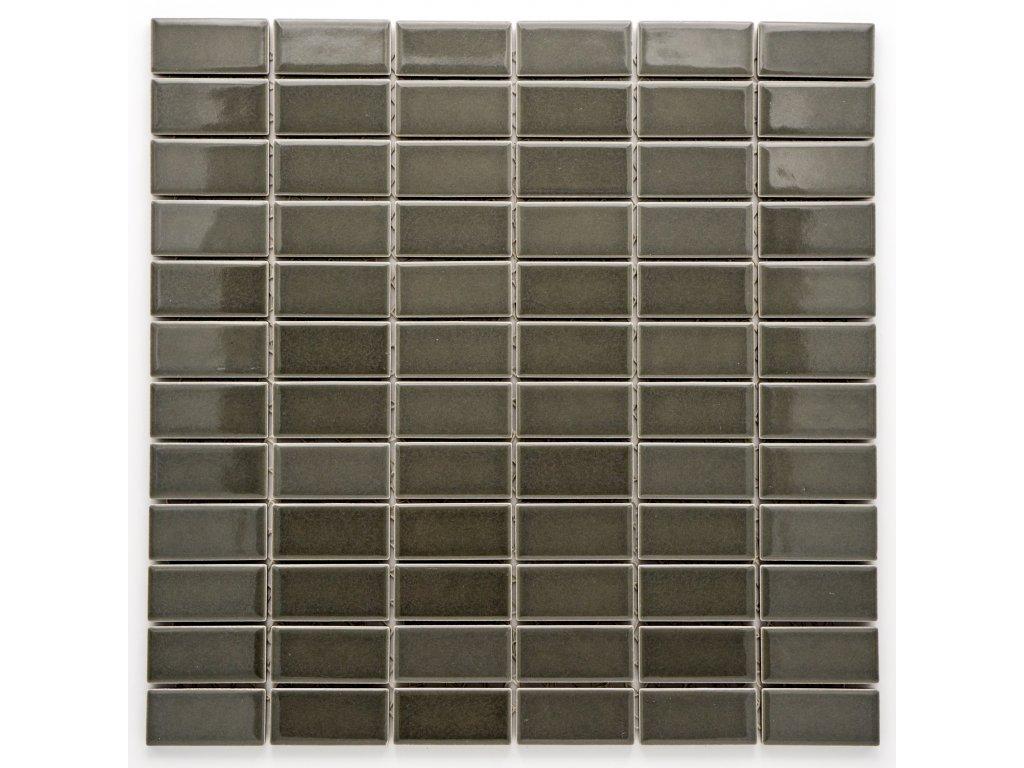 MCB 017 keramická mozaika šedá 23x48mm