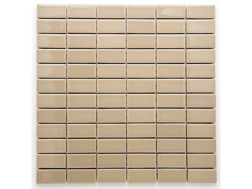 MCB 018 keramická mozaika hnědá 23x48mm