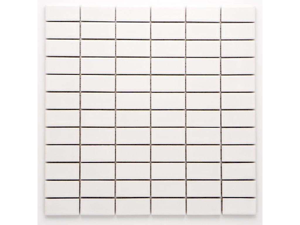 MCB 019 keramická mozaika bílá 23x48mm