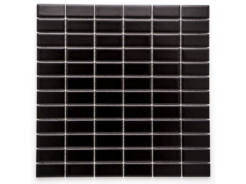 MCB 020 keramická mozaika černá 23x48mm