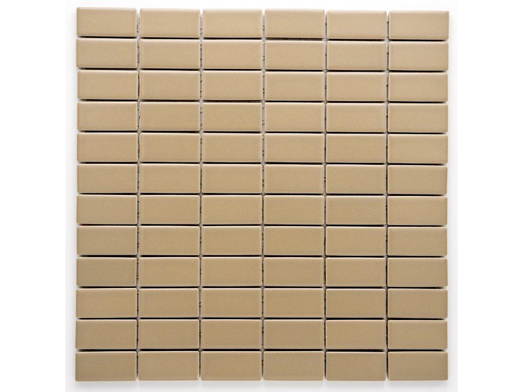 MCB 023 keramická mozaika hnědá 23x48mm