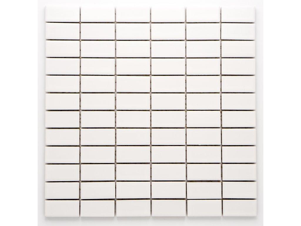 MCB 024 keramická mozaika bílá 23x48mm