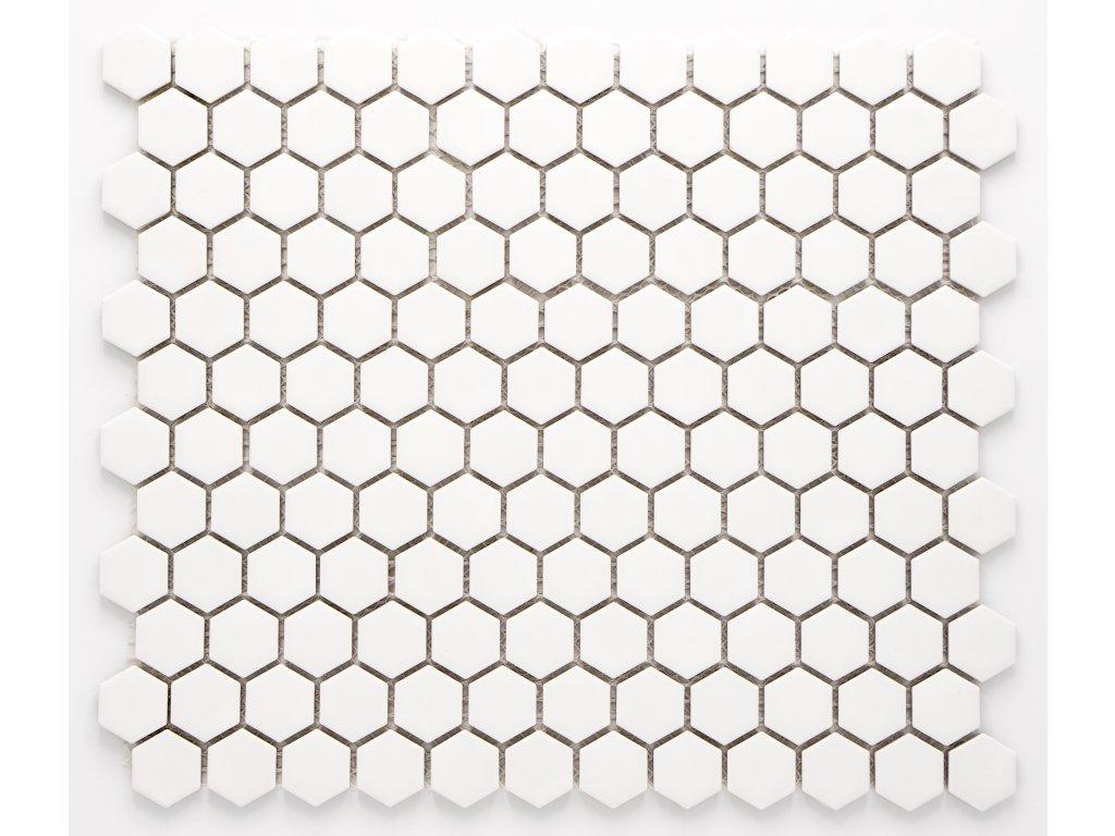 MCH 002 keramická mozaika bílá 23x26mm