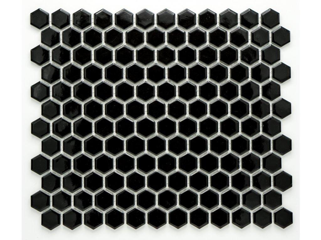 MCH 003 keramická mozaika černá 23x26mm
