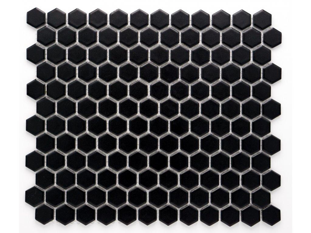 MCH 004 keramická mozaika černá 23x26mm