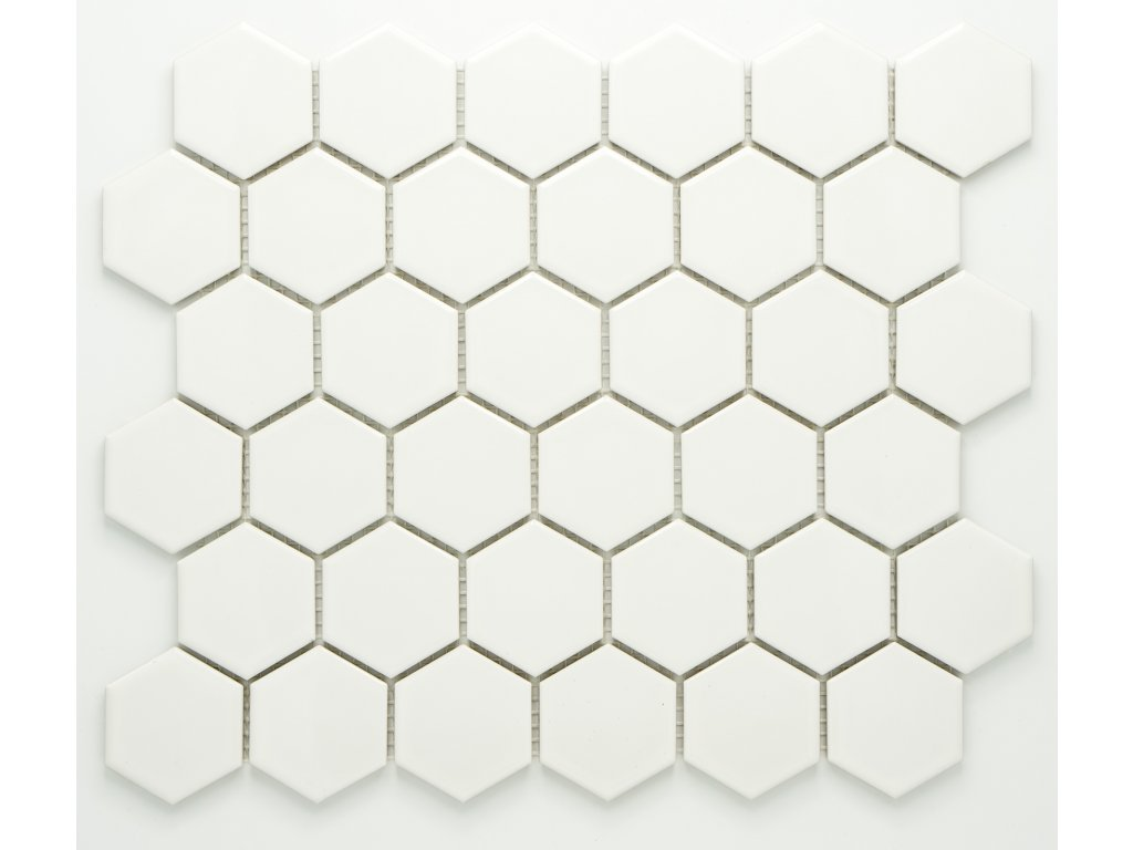MCH 005 keramická mozaika bílá 51x59mm