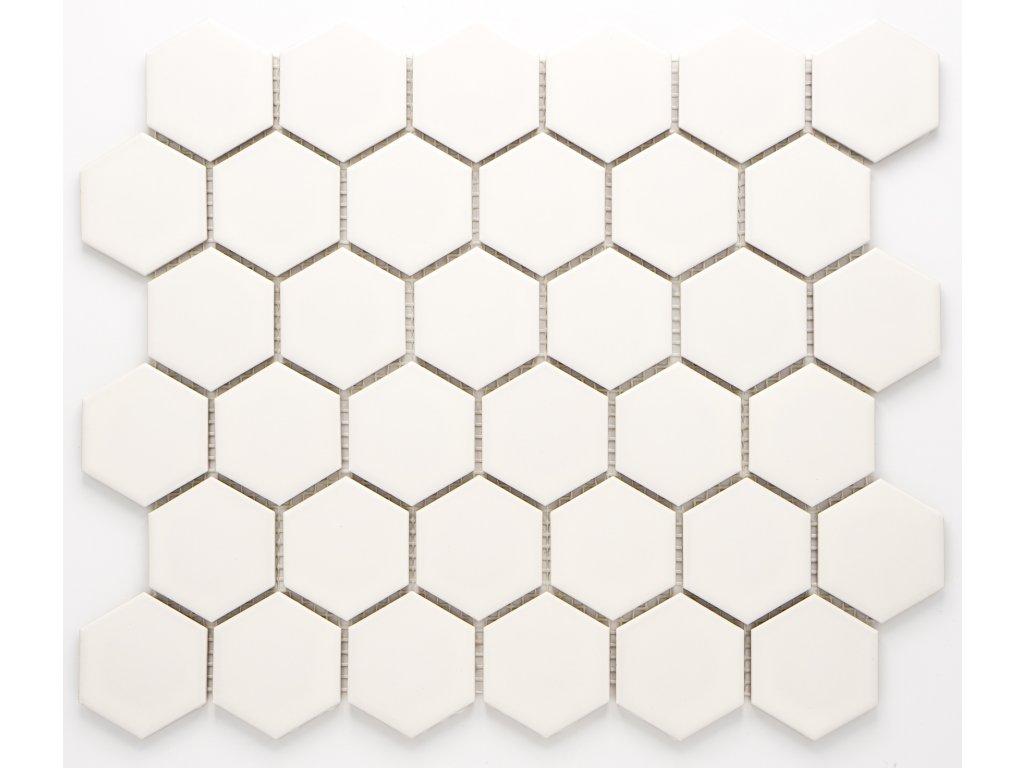 MCH 006 keramická mozaika bílá 51x59mm