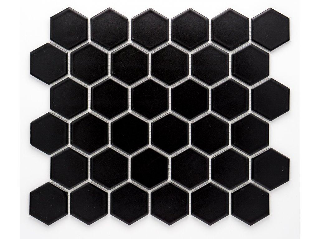 MCH 008 keramická mozaika černá 51x59mm