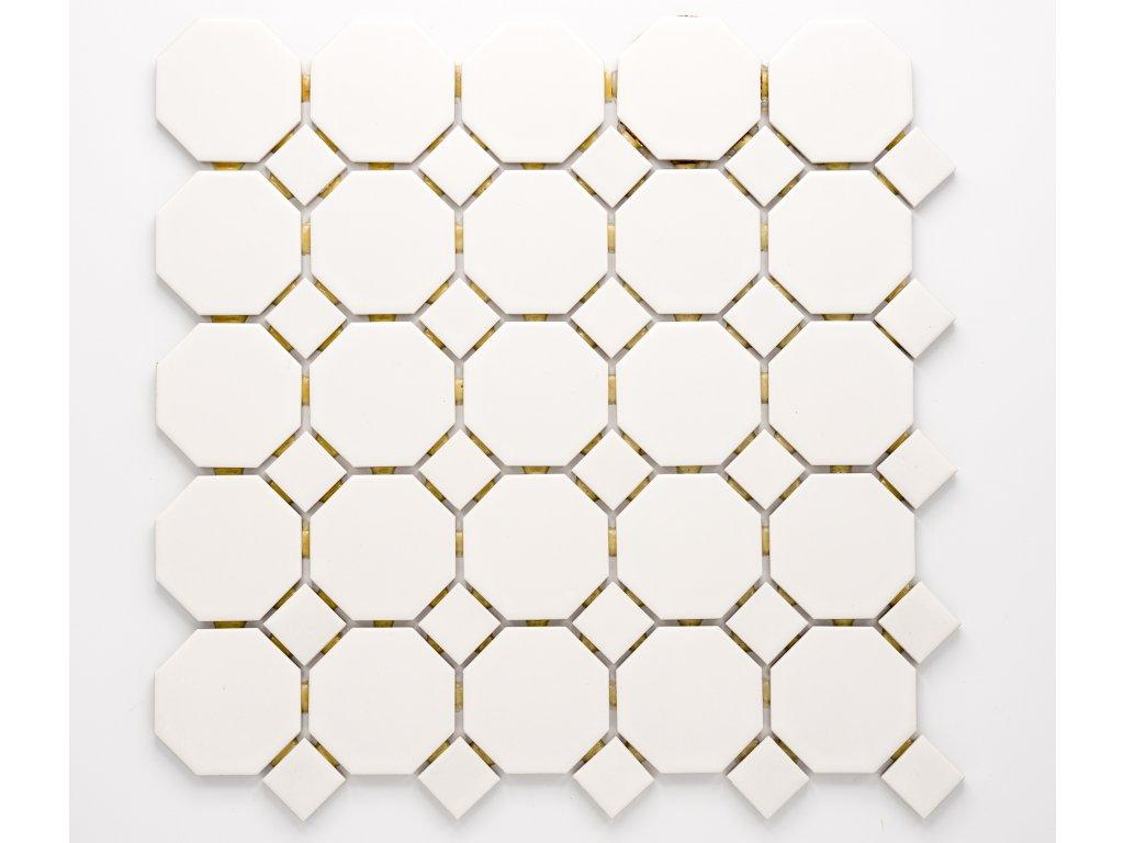 MCO 002 keramická mozaika bílá 56x56mm