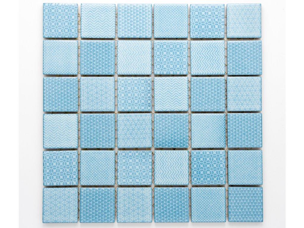 MC48 015 keramická mozaika modrá 48x48mm