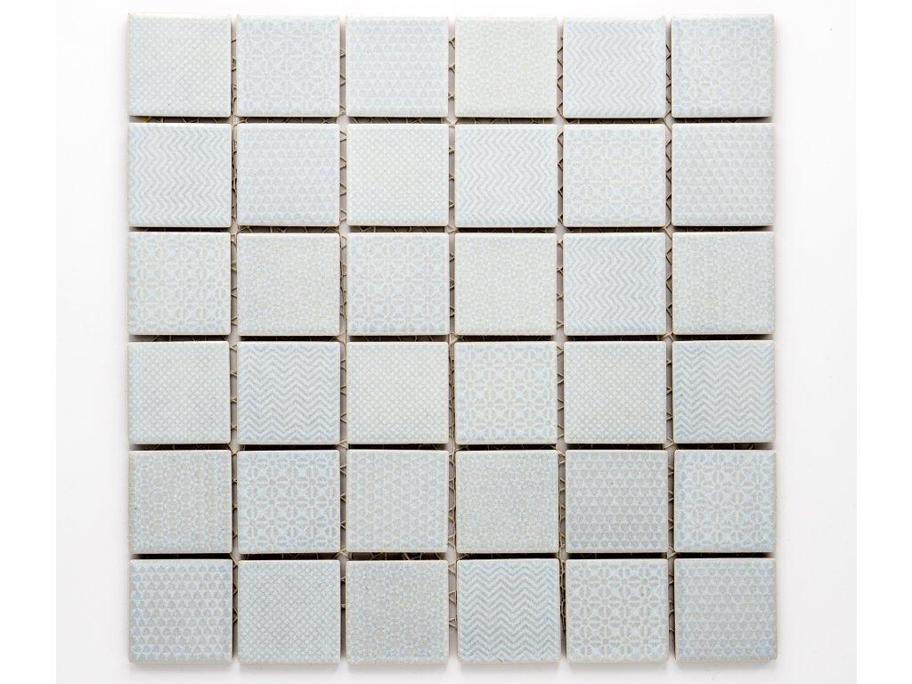 MC48 018 keramická mozaika šedá 48x48mm