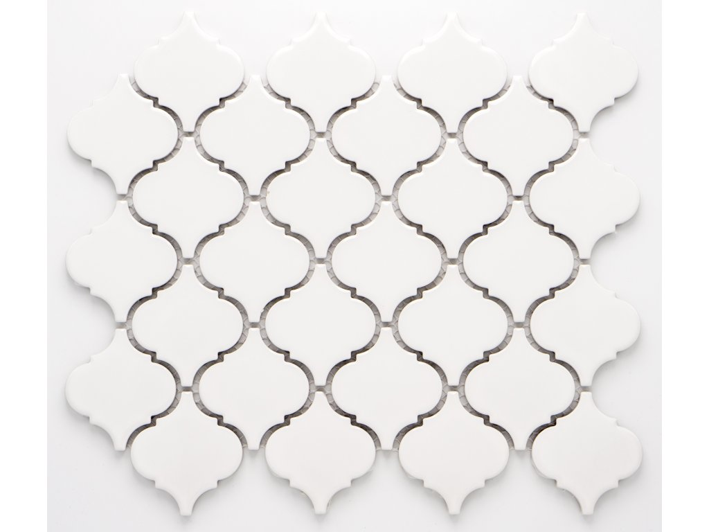 MCS 001 keramická mozaika bílá