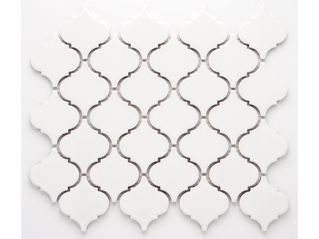MCS 003 keramická mozaika bílá