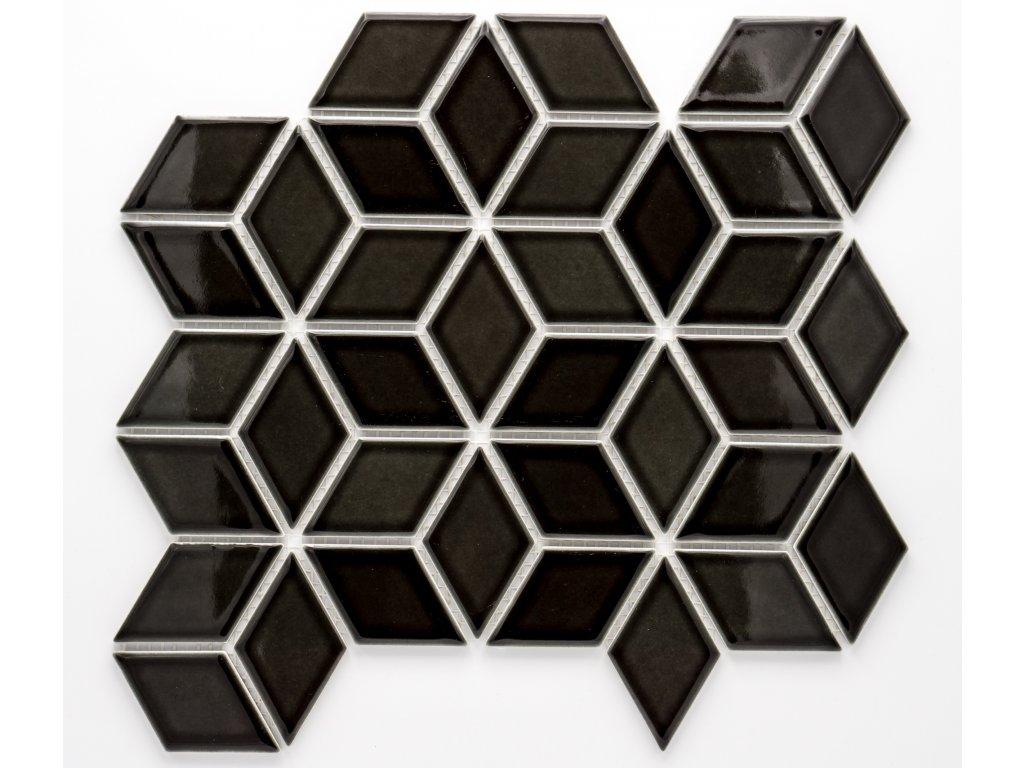 MCS 008 keramická mozaika černá