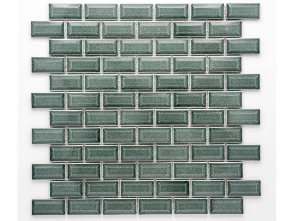 MCB 025 keramická mozaika petrolejová 23x48mm